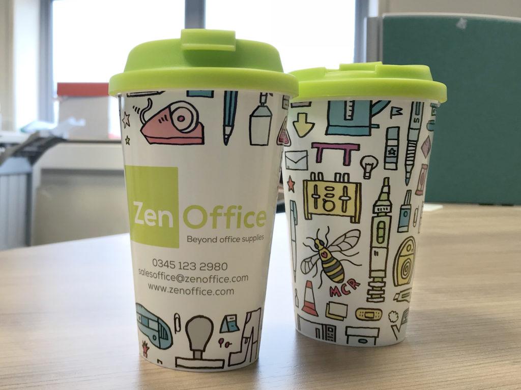 ZenOffice branded Brite Americano Mugs