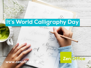 It's world calligraphy day