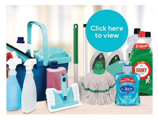 Janitorial supplies for the workplace