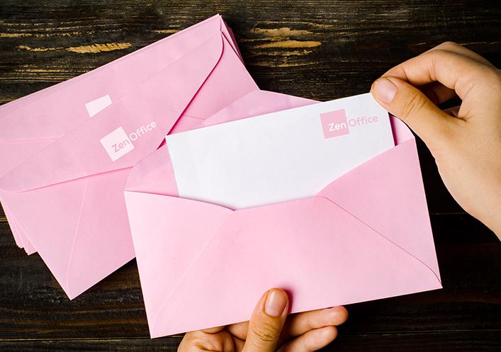 ZenOffice Valentine's branded stationery