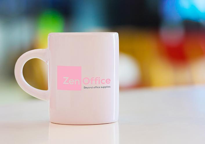 ZenOffice Valentine's branded mug