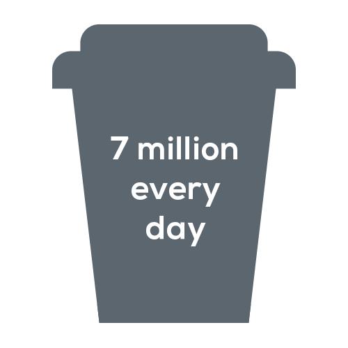 7 million disposable cups