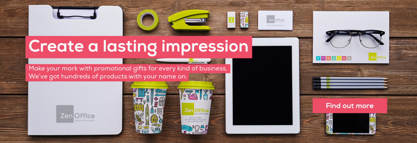 Create a lasting impression with promotional products for your business from ZenOffice